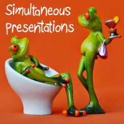 Simultaneous presentations - a great alternative to traditional class presentations; save time and reduce anxiety!