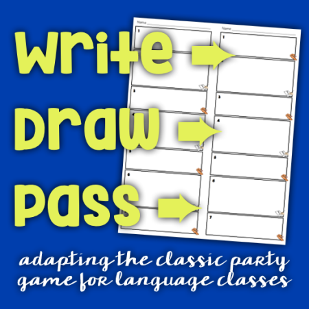 Write draw pass an activity for language classes