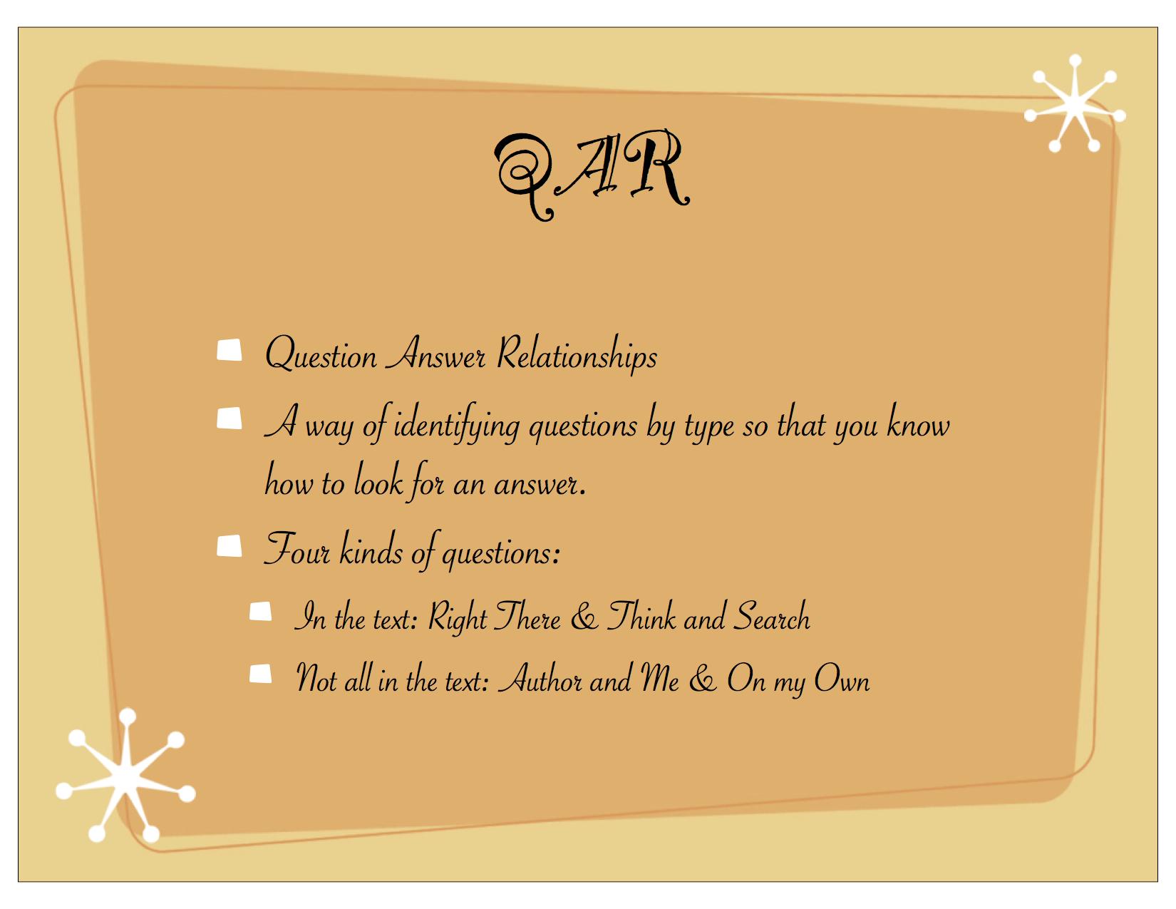 QAR The Comprehensible Classroom – Qar Worksheet