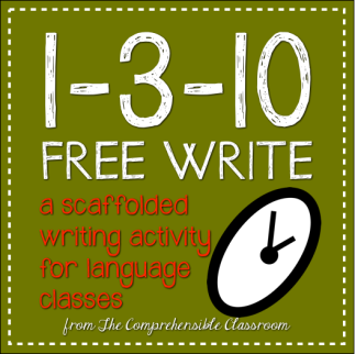 A 1-3-10 Free Write is the perfect scaffolded writing activity to get your students writing more! Shared by The Comprehensible Classroom