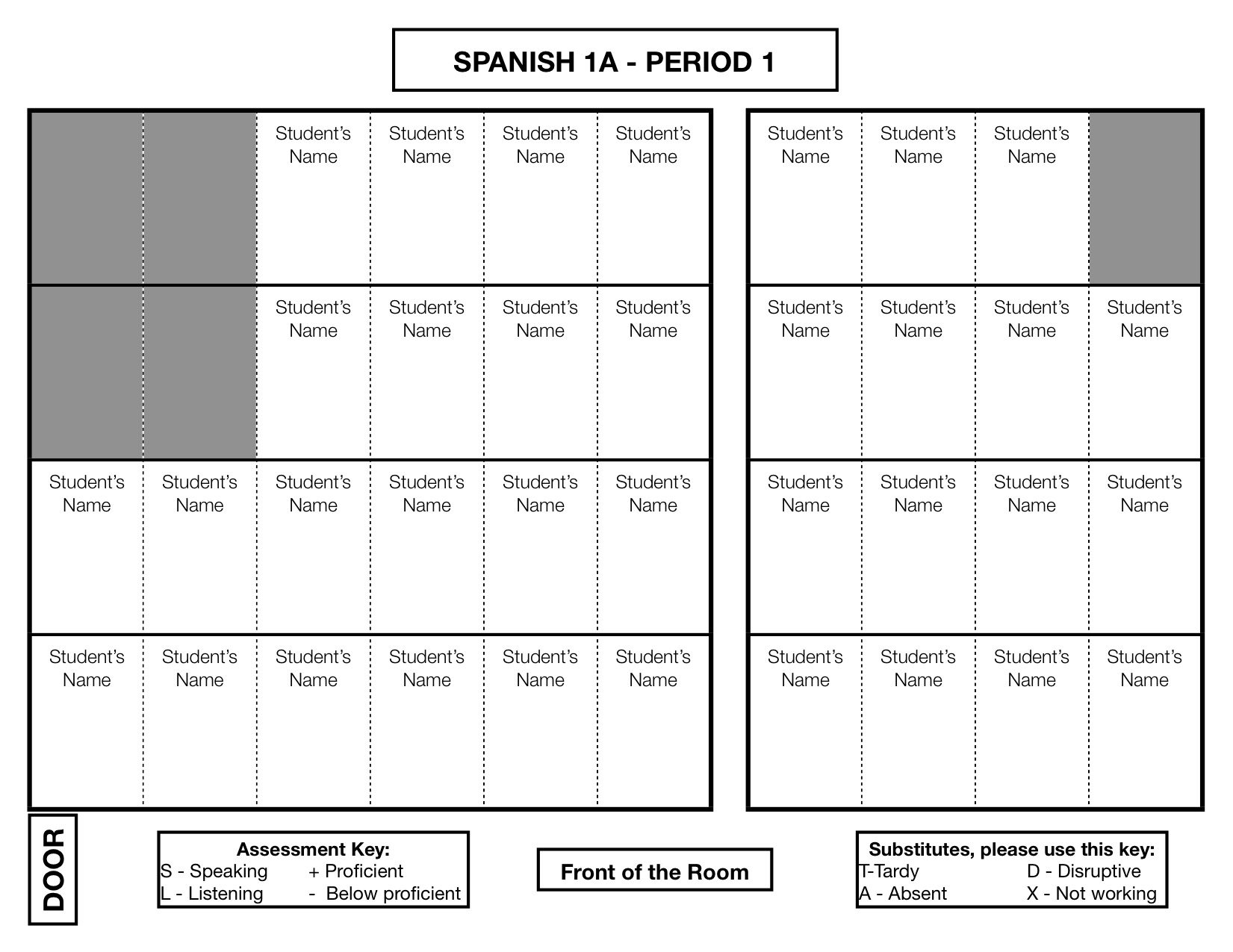 Seating Chart The Comprehensible Classroom – Seating Chart