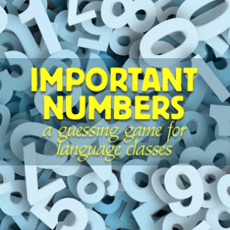 important numbers guessing game for language classes