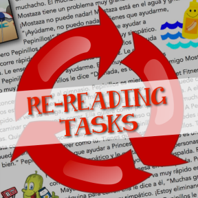 Activities that give your students a reason to read and re-read a text many times; for language classes