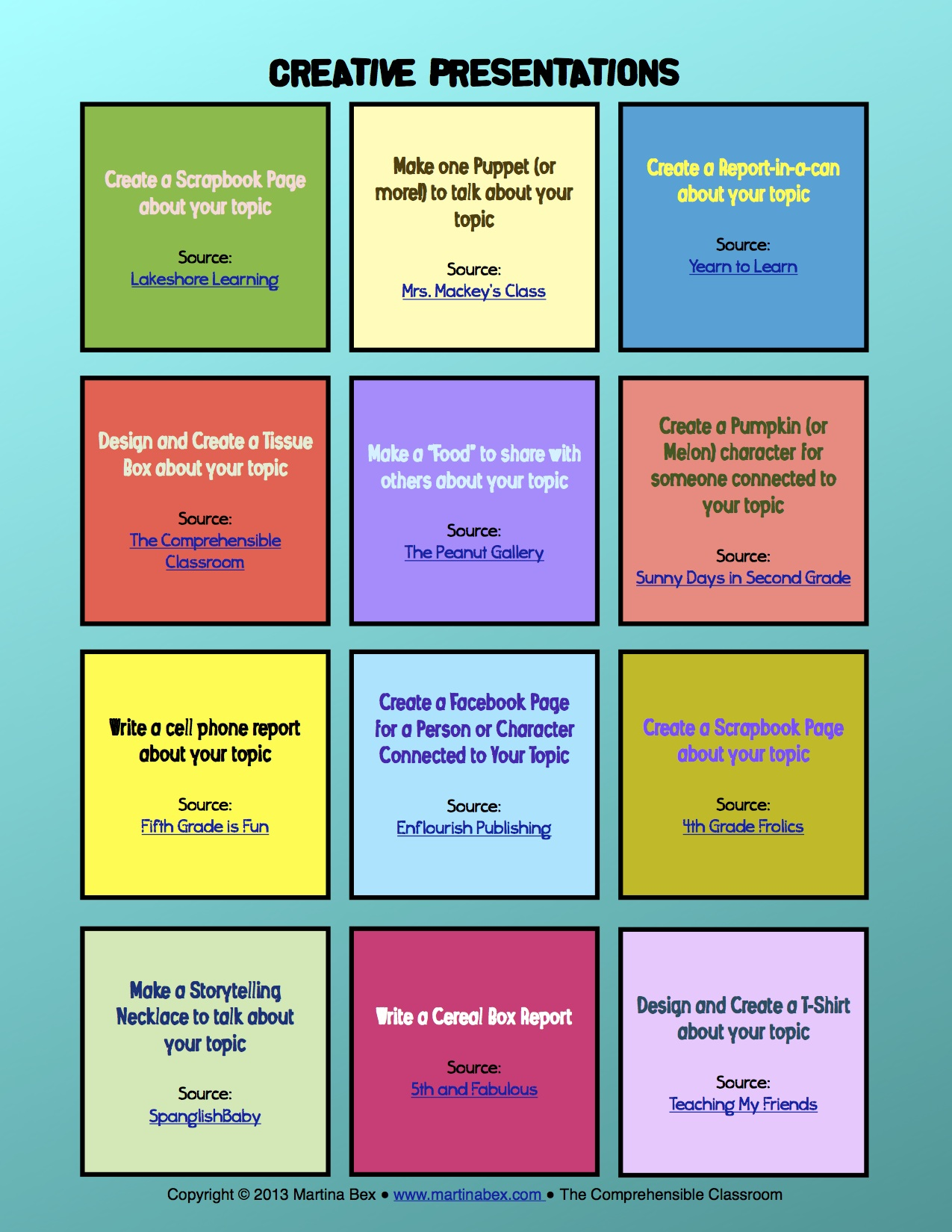 good ways to present a book report These will work for almost any book and are especially good when students are ten great creative book report there are many, many great ways for students.