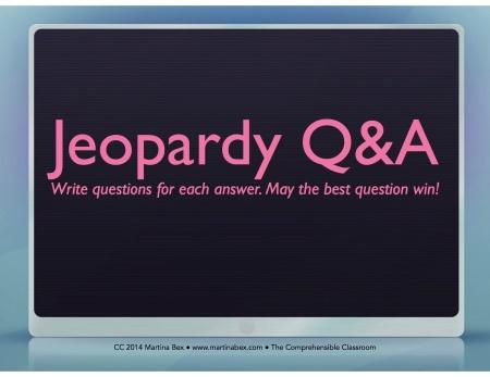 Jeopardy QA