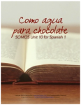 Como agua para chocolate spanish 1