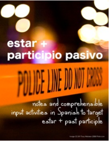 Crime scene to learn Spanish past participle