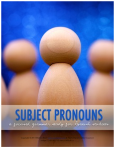 Click on image to access Subject Pronoun lesson plans
