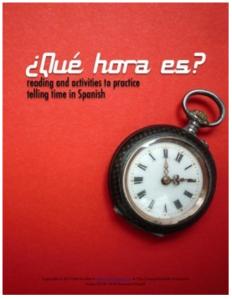 telling time in spanish la hora qué hora es Spanish 1