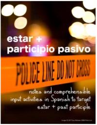 Click on image to access estar + past participle lesson plans