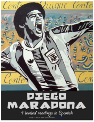 Four leveled readings about Diego Maradona in Spanish