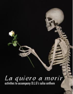 La quiero a morir - song activities for Spanish class