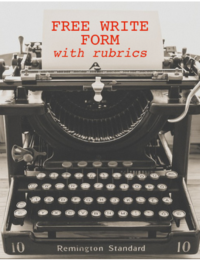 Free write form with ACTFL Proficiency aligned rubrics to use in World Language courses