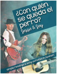 Con quién se queda el perro activities for the Jesse & Joy song for Spanish classes