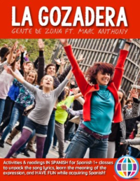 La Gozadera song activities for Spanish classes, song by Gente de Zona ft. Marc Anthony