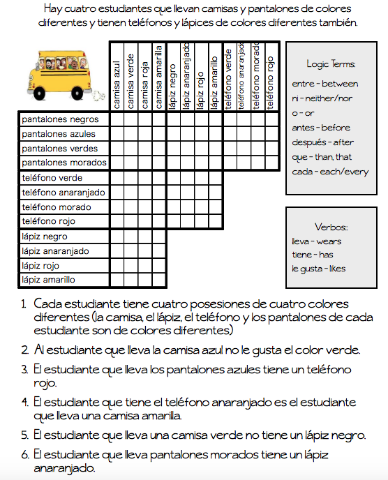 Logic Puzzles | The Comprehensible Classroom