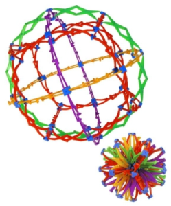 Susan used a Hoberman Sphere for a breathing exercise at the beginning of class