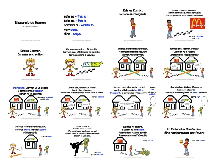 I sent the kids home with a printout of the reading. Click on the image to download the slideshow, games, and reading printout!