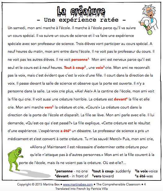 Thank you Patricia Villa for translating this into French!