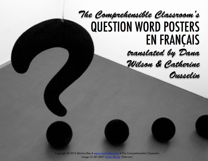 Questions posters in French