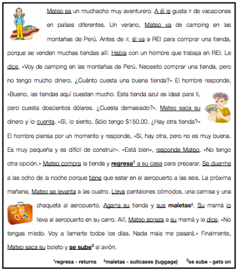 Spanish 1B Midterm assessment The Comprehensible Classroom