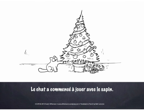 Santa claws en francais shared by The Comprehensible Classroom