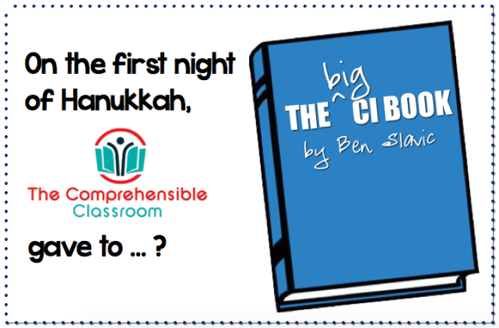 Giveaway from The Comprehensible Classroom: The Big CI Book by Ben Slavic