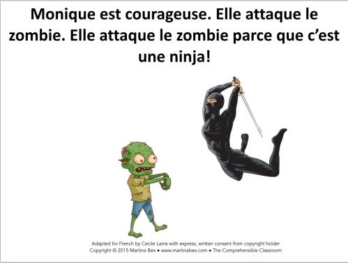 Le secret de Monique basic reading in French