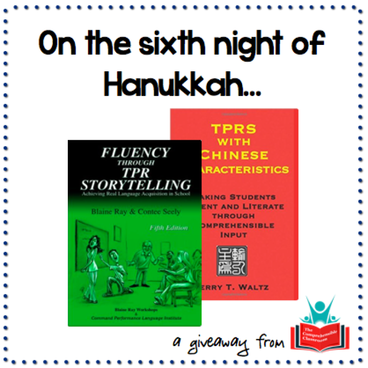 Win copies of Fluency through TPR Storytelling and TPRS with Chinese Characteristics