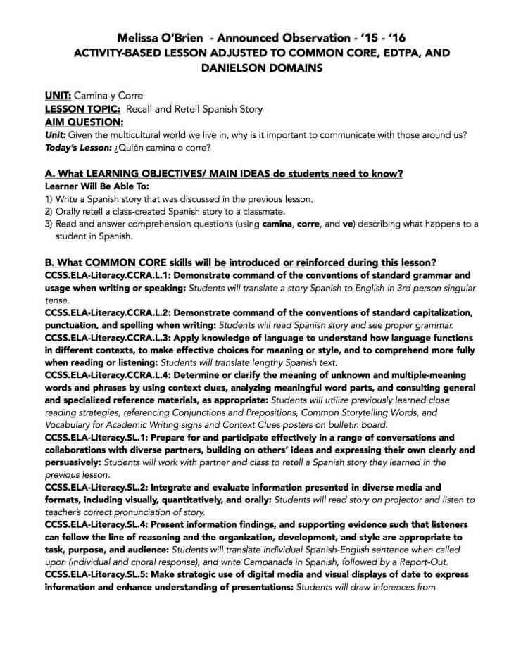CCSS-APPR Lesson Plan O'Brien '16