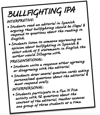 Bullfighting IPA overview from The Comprehensible Classroom www.martinabex.com