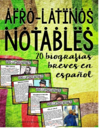 Biographies in Spanish of 20 notable Afro-latinos