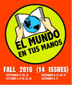 Fall 2016: 14 issues of weekly news summaries in Spanish for Novice Spanish students