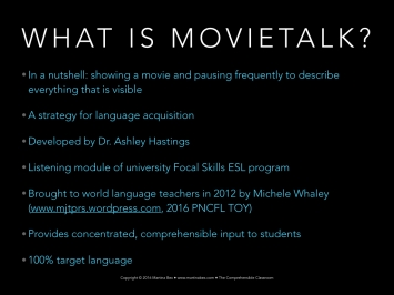 MovieTalk workshop by Martina Bex