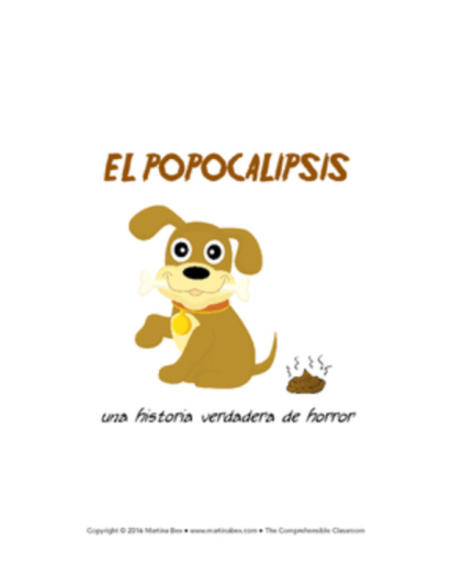 El popocalipsis - a free reading in Spanish that involves dog poop and a Roomba®