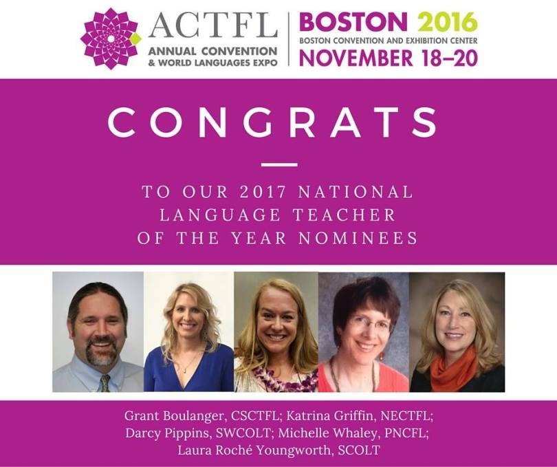 2016 National Language TOY Nominees from @actfl www.actfl.org www.facebook.com/actfl