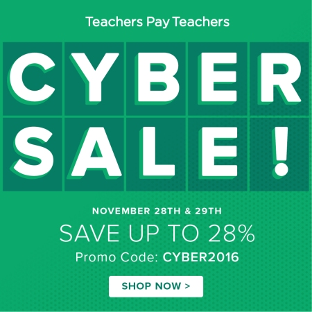 Save 28% on all Spanish and French lesson plans and activities 11/28-29!