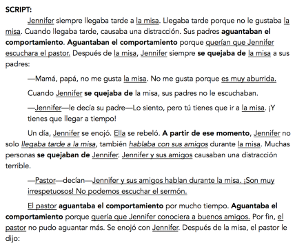 Story script to target -AR imperfect verb conjugations – The ...