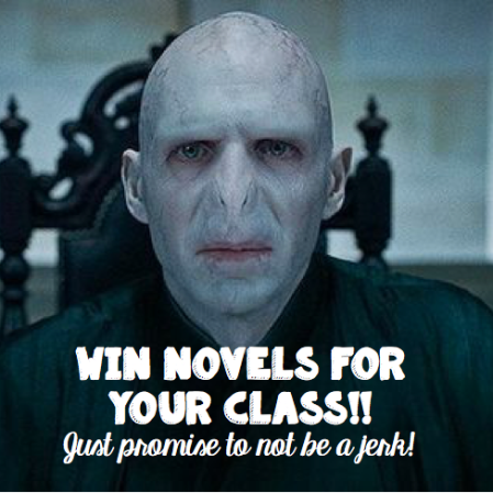 Win $150 in novels or TpT gift certificates if you are a language teacher--just promise to not be a jerk!