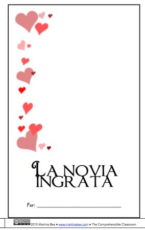 La novia ingrata printable storybook from The Comprehensible Classroom