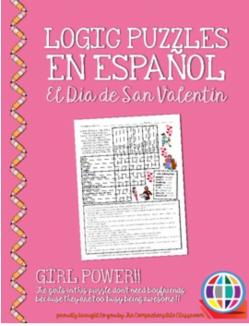 Valentine's Day logic puzzle in Spanish