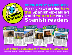 Spring 2017 subscription to El MUNDO EN TUS MANOS