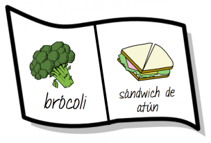 Have students draw one food they like and one they don't like. They should label it in Spanish but not say which is which (like or dislike). for Spanish classes, levels 1 or 2