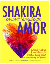Shakira readings to talk about nationality, professions, and weather in Spanish