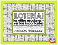 School supplies sentence bingo in Spanish for Spanish classes en español